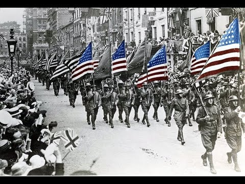 Famous American Military Marches - Footage parades World War I