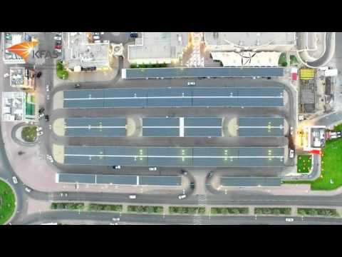 Kuwait's first 752kWp Solar Carport pilot project in Salmiya (Kuwait City)
