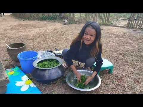 Tramthu Siem Dan (step By Step Process Of Making Fermented Mustard Leaf Paste)
