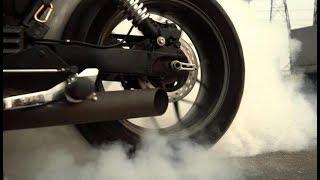 1 тест-драйв кастома Triumph Speedmaster \ жжем резину