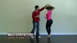 Multiple Spins Salsa Dance Pattern
