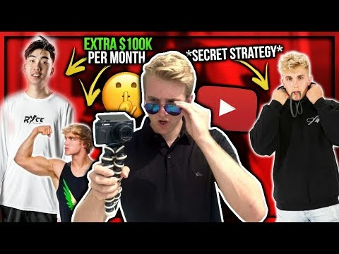 Big YouTubers Bank An Extra $100K PER MONTH Doing This One Thing