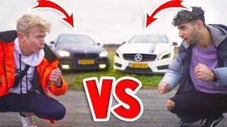 MIJN AUTO VS TIES ZIJN AUTO! - Race met Peys