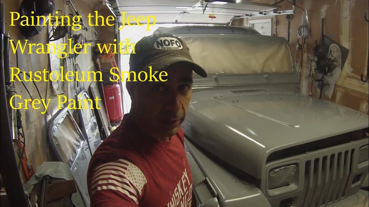 Jeep Wrangler Yj Rustoleum Paint Smoke Grey Youtube