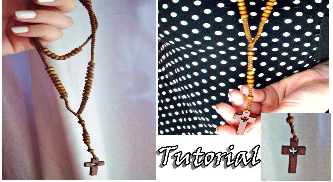 Como hacer un rosario en macrame youtube - Como hacer un estor enrollable paso a paso ...