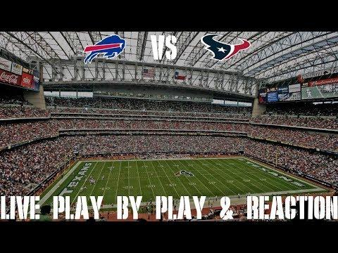 Bills Vs Texans Live Play By Play & Reaction