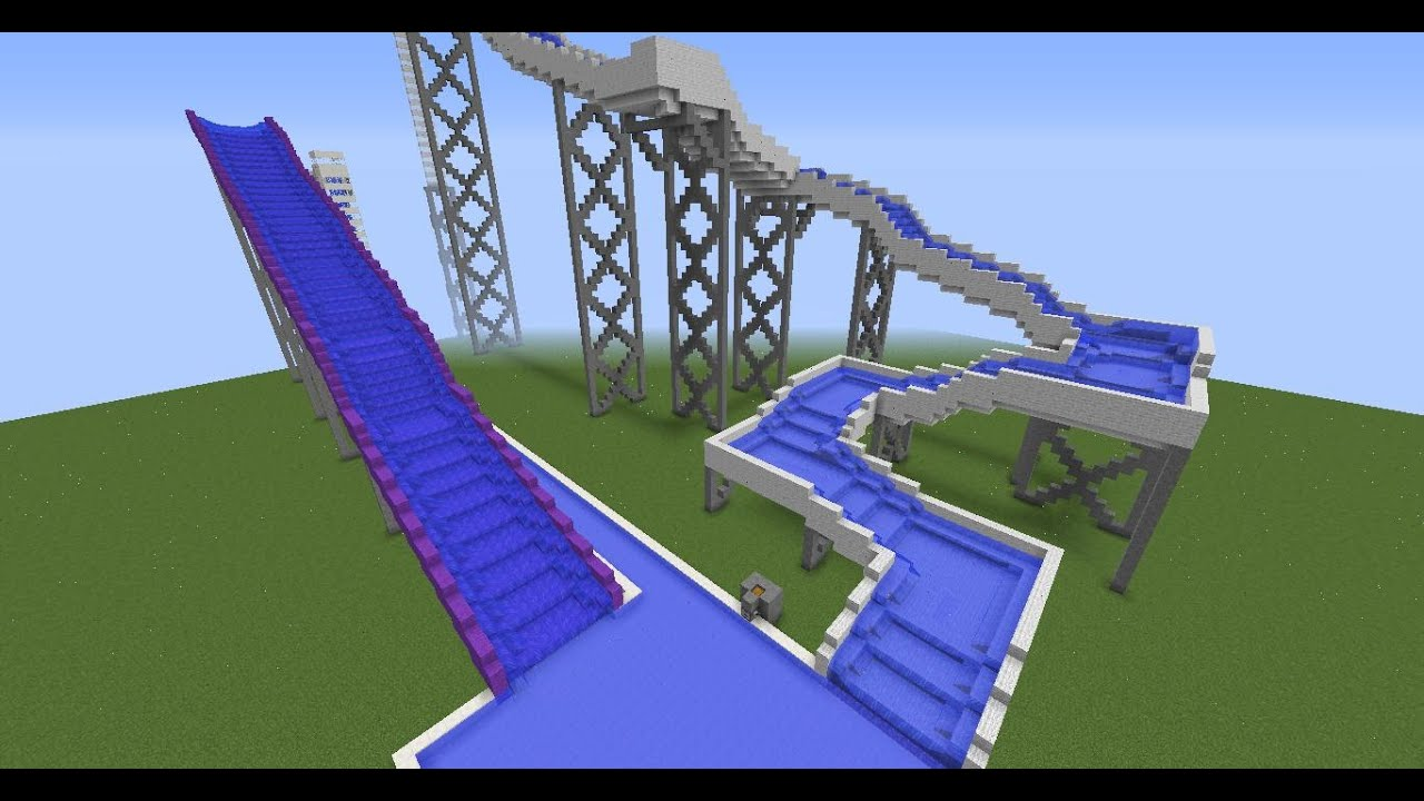 how to build a waterslide on minecraft