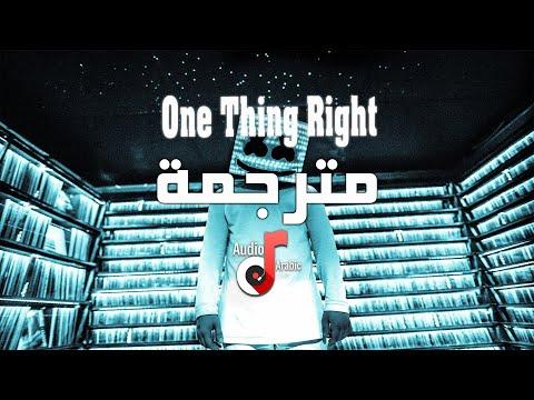 marshmello-x-kane-brown---one-thing-right-with-lyrics-مترجمة