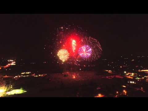 4th of July Fireworks 2015   City of Tomball Texas   Phantom 3 Drone - Ultra HD 4K