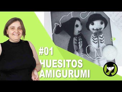 ESQUELETO AMIGURUMI PARA HALLOWEEN 01