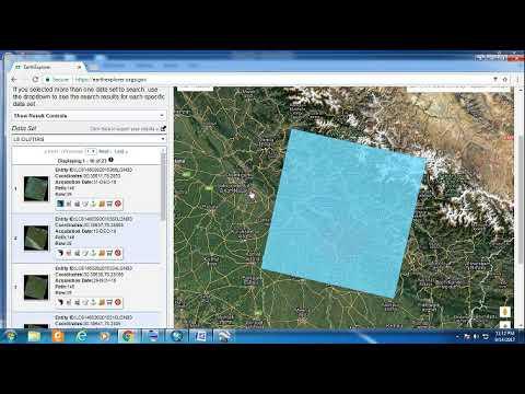 Downloading landsat image from usgs