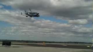 Space Shuttle Enterprise Landing JFK NYC - Runway Video!