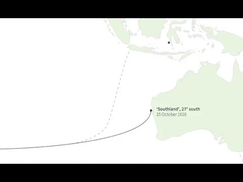 Captain Dirk Hartog's journey to Australia