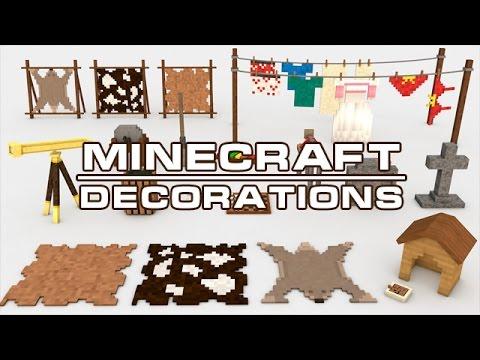 Cinema 4d minecraft furniture decorations models pack for Minecraft dekoration