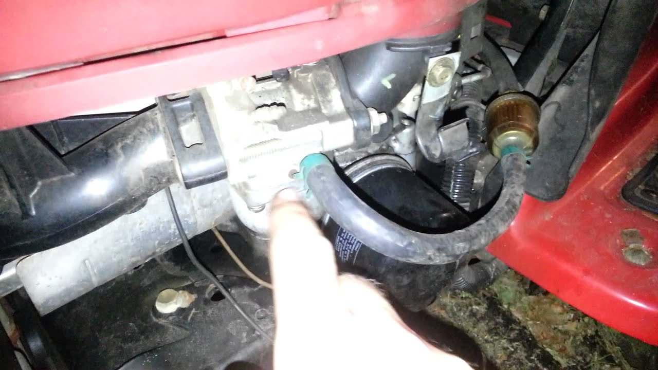 medium resolution of how to drain gas from your mower tank siphonless