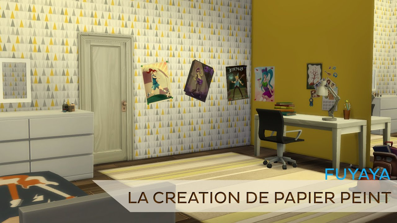 let 39 s create la cr ation de papier peint youtube. Black Bedroom Furniture Sets. Home Design Ideas