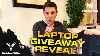 LAPTOP GIVEAWAY REVEAL! (in Partnership with Acer Predator Helios 500)