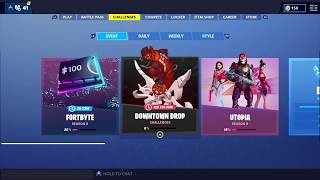 Fortnite X DownTown Drop Challenges And Rewards Tons Of Back Bling Out Now