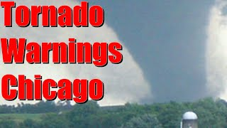 Tornado warnings issued for chicago ...