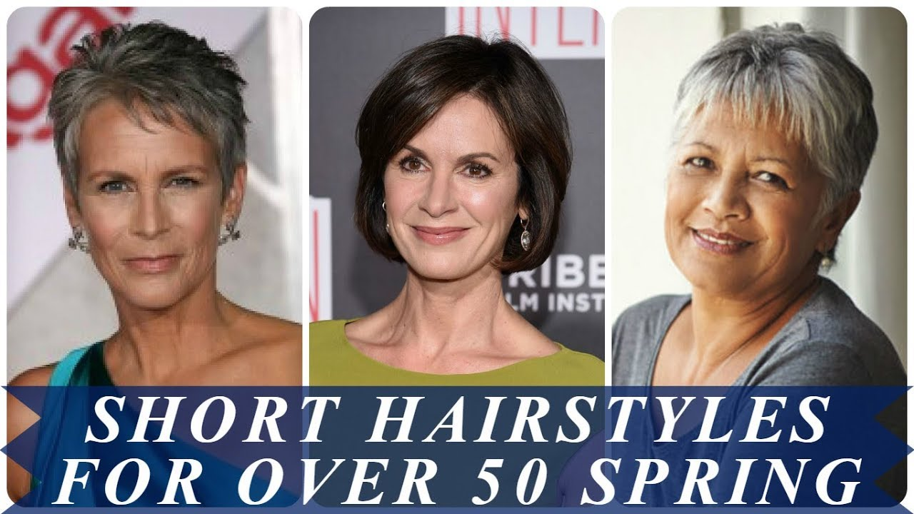 20 modern short hairstyles for over 50 spring 2018 - YouTube