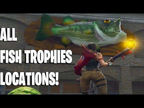 ALL FORTNITE FISH TROPHIES LOCATIONS👌! WEEKLY CHALLENGES WEEK #8!