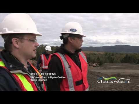Nouveau poste d'Hydro-Québec à Baie Saint Paul