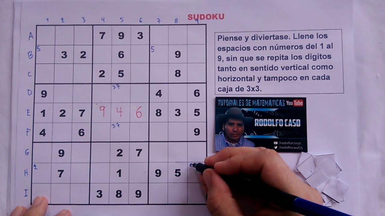 2 Cómo Resolver Un Sudoku Nivel Muy Dificil Youtube