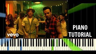 Luis Fonsi - Despacito ft. Daddy Yankee - Piano Easy Tutorial - Synthesia