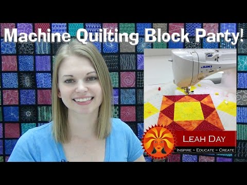 Machine Quilting Block Party With Leah Day Youtube