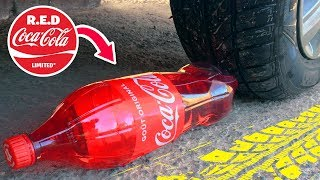 Crushing Crunchy & Soft Things by Car! EXPERIMENT: Car vs Coca Cola, Fanta, Mirinda Balloons