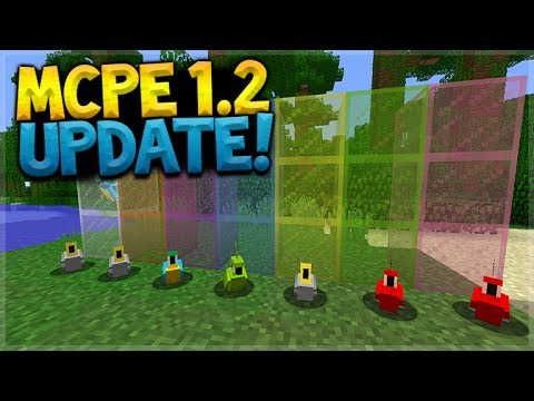 MCPE 1.2 UPDATE CONFIRMED!! Minecraft Pocket Edition - 1.2 Stained Glass, Parrots & New Recipe Book