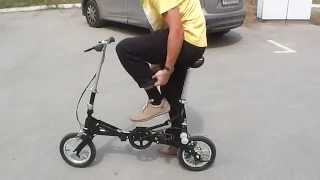 видео складной велосипед