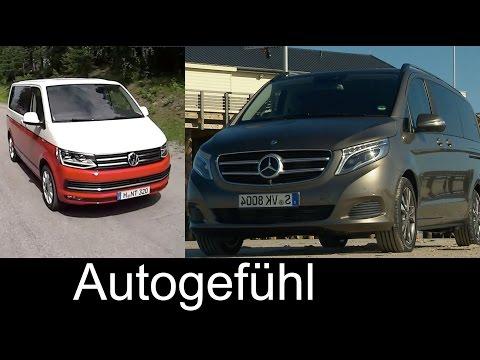 Best transporter/shuttle comparison test review Volkswagen T6 Multivan vs Mercedes V-Class V-Klasse