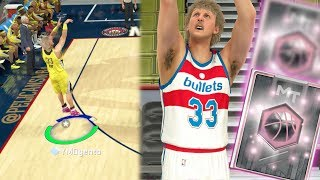Nba 2k17 myteam - new 99 ovr pink diamond legend! larry bird new jumpshot! all green release!
