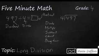 4th Grade Math Long Division