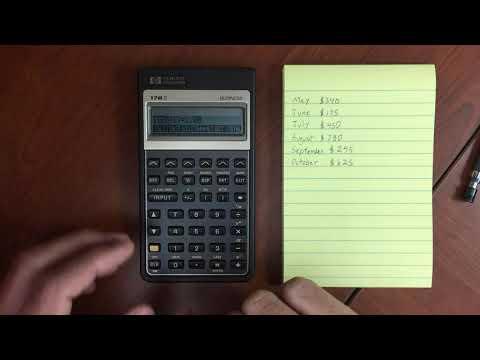 HP 17BII Sum Menu and Statistics