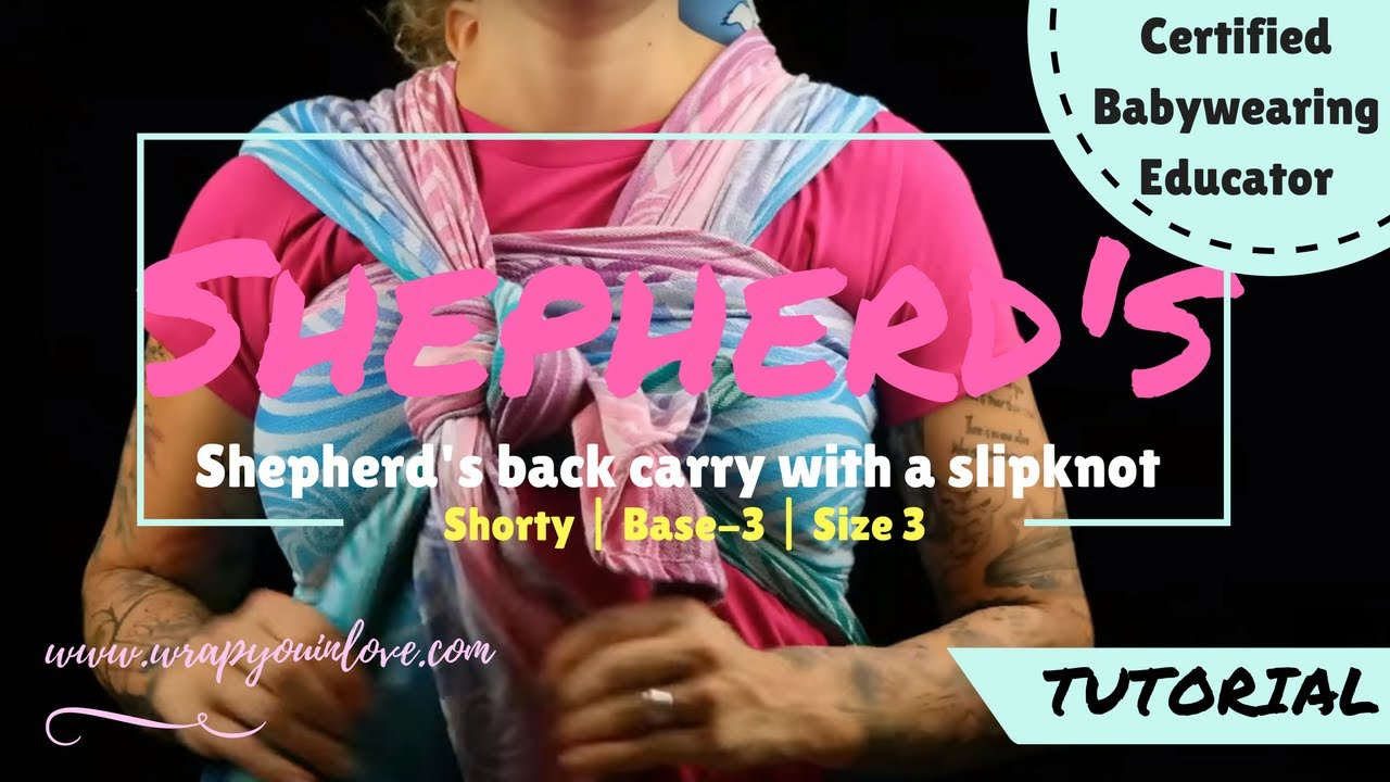 10d55ee0733 Shepherd s back carry with a slipknot (size 3   base - 3 ) - YouTube