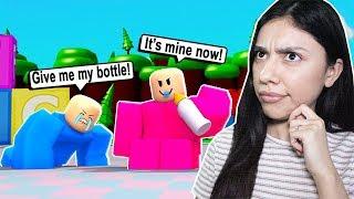 I WAS BULLIED VON EINEM BABY in ROBLOX! - Baby-Simulator