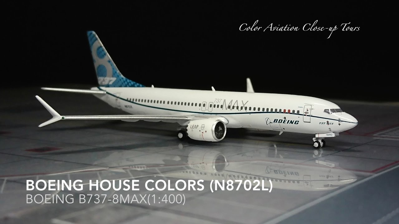 Boeing 737 800 Max: 1:400 Boeing House Colors N8702L Boeing 737-800 MAX