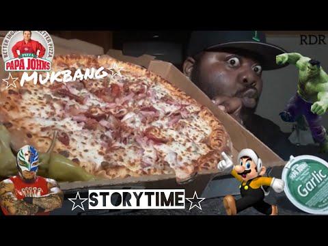 ☆Papa John's Mukbang☆(StoryTime)[Eating Show]