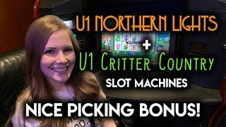 Northern Lights and Critter Country! Slot Machines! FIRST SPIN BONUS!!