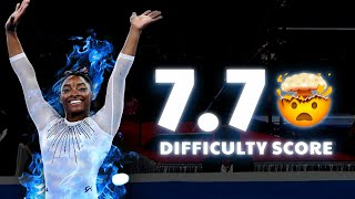MASSIVE 7.7D Simone Biles Dream Floor Routine