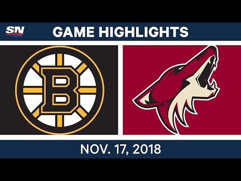 NHL Highlights | Bruins vs. Coyotes – Nov. 17, 2018