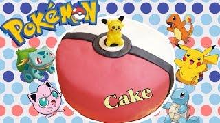 Торт с сюрпризом Покемон Покебол Пикачу ⚡️ DIY Pokeball cake with a surprise: Pokémon Pikachu(, 2016-08-06T08:24:38.000Z)