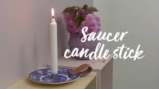 Panduro DIY – Porcelain Saucer Candle Holder