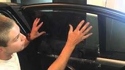 Затъмняване на заден страничен прозорец на BMW