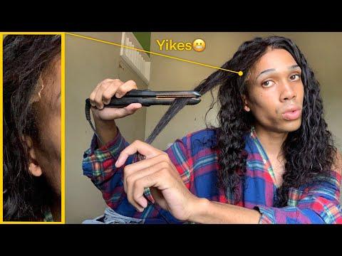 Applying My FIRST Lace Front Wig!