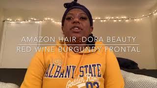 Amazon hair: Dora Beauty hair Red Wine Burgundy