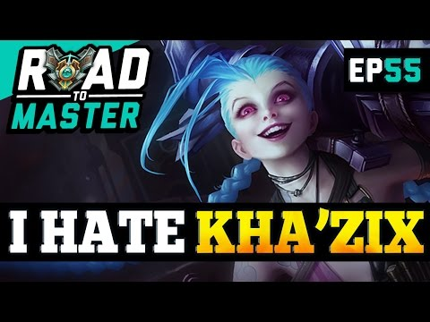 NEW FOUND KHA'ZIX HATRED - JINX Road to Master Ep 54 (League of Legends)