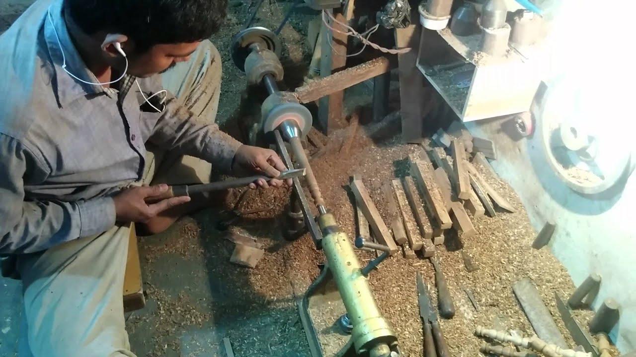 Indian Wood Craftsmen At Work Wooden Handicrafts In